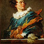 Fragonard, Jean-Honore -- Figure de fantaisie, portrait de l'Abbe de Saint-Non. Oil on canvas 80 x 65 cm MI 1061, Part 1 Louvre