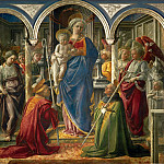 Part 1 Louvre - Filippo Lippi -- Madonna and Child with angels, Saints Frediano and Augustine (so-called Pala Barbadori)