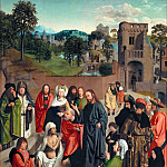 Geertgen tot Sint Jans -- Resurrection of Lazarus, Part 1 Louvre