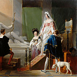 Part 1 Louvre - Alexandre-Evariste Fragonard -- Diane de Poitiers in the Studio of Jean Goujon