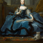 Jean-Marc Nattier -- Madame Adélaïde daughter of Louis XV holding a book of music, Part 1 Louvre