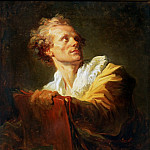 Fragonard, Jean-Honore -- Portrait d'un jeune artiste-Portrait of a young artist. Canvas, 81, 5 x 65 cm R.F.1942-20, Part 1 Louvre