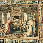 Part 1 Louvre - Antoine Caron (1521-1599), designer; woven at the Atelier du Faubourg Saint Marcel, Paris -- Tapestry Illustrating The Legend of Artemisia: Instruction of the Young King