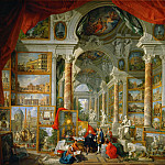 Giovanni Paolo Panini -- Gallery with views of modern Rome, Part 1 Louvre