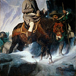Part 1 Louvre - Paul Delaroche -- Bonaparte Crossing the Alps