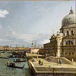 Canaletto -- Entrance to the Grand Canal with Santa Maria della Salute, Part 1 Louvre