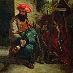 Part 1 Louvre - Delacroix, Eugene -- Turk with saddle Canvas, 41 x 33 cm R.F. 1654