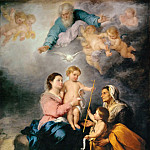 Part 1 Louvre - Bartolomé Estebán Murillo -- Holy Family (Virgin of Seville)
