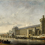 Reinier Nooms -- View of the Seine with the south facade of the Grand Gallery of the Louvre, Part 1 Louvre