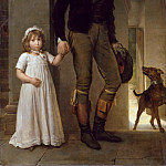 Baron François Gérard -- Portrait of the Painter Jean-Baptiste Isabey and his Daughter Alexandrine, Part 1 Louvre