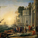 Claude Lorrain -- Cleopatra disembarking at Tarsus, Part 1 Louvre