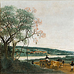 Frans Post -- An oxcart: Brazilian landscape, Part 1 Louvre