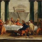 Part 1 Louvre - Tiepolo, Giovanni Battista -- The Last Supper. Canvas, 80, 5 x 89, 5 cm RF 176