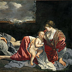 Orazio Gentileschi -- Rest on the Flight into Egypt, Part 1 Louvre