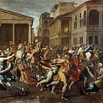 Nicolas Poussin -- Rape of the Sabine Women, Part 1 Louvre
