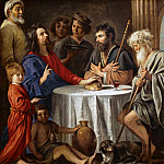 Part 1 Louvre - Antoine Le Nain (c. 1588-1648), Louis Le Nain (c. 1593-1648) or Mathieu Le Nain (1607-1677) -- Supper at Emmaus