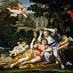 Part 1 Louvre - Domenichino -- Rinaldo presents Armida with a mirror