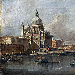 Francesco Guardi -- View of the Salute in Venice, Part 1 Louvre