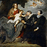 Anthony van Dyck -- Virgin and Child Adored by a Married Couple, Part 1 Louvre
