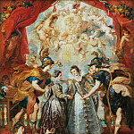 Part 1 Louvre - Peter Paul Rubens -- Medici Cycle: Exchange of Two Princesses from France and Spain upon the Bidassoa at Hedaye, November 9, 1615