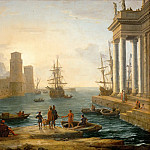 Claude Lorrain -- Seaport, Effects of Fog , Part 1 Louvre