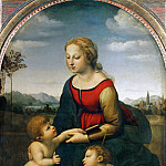 Part 1 Louvre - Raphael -- Madonna with Child and the Young Saint John (La Belle Jardinière)