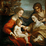 Correggio -- Mystic Marriage of Saint Catherine of Alexandria with the Child Jesus, and Saint Sebastian, Part 1 Louvre