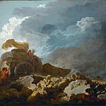 Fragonard, Jean-Honore -- L'orage, dit aussi La charette embourbee-Thunderstorm, or the cart stuck in the mud 1759? Canvas, 73 x 97 cm M.I. 1063, Part 1 Louvre