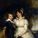 Young Woman and a Boy Holding a Cat, John Hoppner