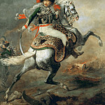Part 1 Louvre - Théodore Géricault -- Officer of the Imperial Guard on Horseback