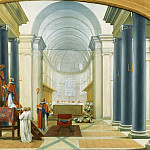 Eustache Le Sueur -- Consecration of a Carthusian Church, Part 1 Louvre
