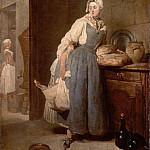 Part 1 Louvre - Jean-Siméon Chardin -- Return from Market (The Purveyoress; La Pourvoyeuse)
