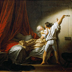 Part 1 Louvre - Fragonard, Jean-Honore -- Le verrou-The Bolt ca.1777. Oil on canvas 73 x 93 cm RF 1947/2