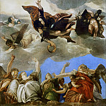 Paolo Veronese -- Saint Mark rewarding the Theological Virtues., Part 1 Louvre