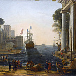 Claude Lorrain -- Ulysses returns Chryseis to her father, Part 1 Louvre