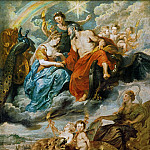 Peter Paul Rubens -- Medici Cycle: Meeting of Henry IV and Maria de Medici at Lyon on November 9, 1600, Part 1 Louvre