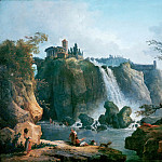 Robert, Hubert -- La cascade de Tivoli-The waterfall at Tivoli. Canvas, 76 x 93 cm, Part 1 Louvre