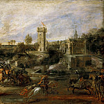Peter Paul Rubens -- Tournament Near the Moat of the Castle of Steen, Part 1 Louvre