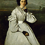 Part 1 Louvre - Corot, Jean-Baptiste Camille -- Girl in white dress in a landscape. Claire Sennegon (1837). Oil on canvas 63 x 35 cm RF 2560