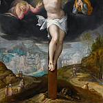 Part 1 Louvre - Gillis Mostaert -- Christ on the Cross between two angels