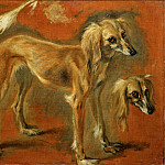 Pieter Boel -- Views of a Greyhound, Part 1 Louvre