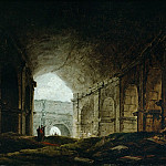 Robert, Hubert -- Interior of the Colosseum, Rome. Canvas, 24, 5 x 32 cm R.F. 2959, Part 1 Louvre