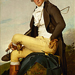 Part 1 Louvre - David, Jacques Louis<br /> -- Portrait of Pierre Seriziat. Oil on wood (1795) 129 x 95.5 cm RF 1281 <br />