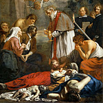 Jacob van Oost the Younger -- Saint Macaire of Ghent and the pestilents, Part 1 Louvre