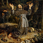 Part 1 Louvre - Frans Pourbus the Younger (1569-1622) -- Saint Francis Receiving the Stigmata