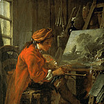 François Boucher -- The Painter in his Studio, Part 1 Louvre