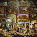 Part 1 Louvre - Giovanni Paolo Panini -- The Gallery of views of ancient Rome