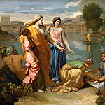Nicolas Poussin -- Moses Saved from the Waters of the Nile, Part 1 Louvre