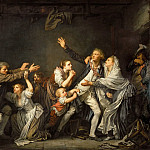 Jean-Baptiste Greuze -- The Father's Curse, or The Ungrateful Son, Part 1 Louvre