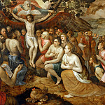 Frans Floris the elder -- Allegory of the Trinity, Part 1 Louvre